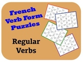 """French """"er, ir, re"""" Verb Puzzle Activity"""