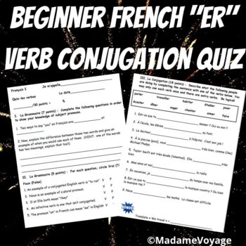 French er verb conjugation quiz