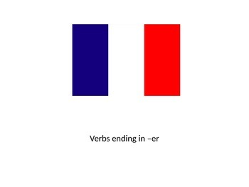 French -er verb conjugations