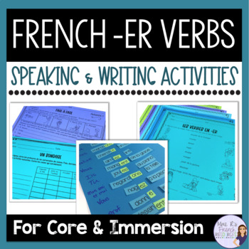 French -er verbs notes, exercises, and activities