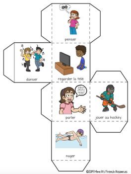 French -er verbs speaking activity ACTIVITÉ ORALE LES VERBES -ER