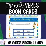 French -er verbs BOOM CARDS digital task cards VERBES DU P
