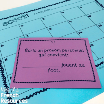French -er verbs task cards and scoot game