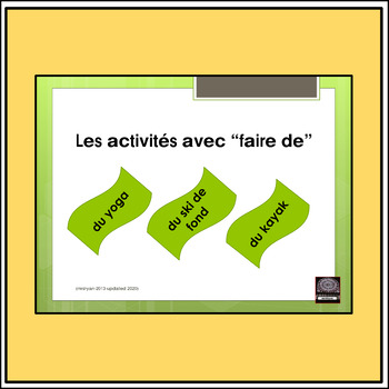 """French expressions with """"faire de"""" – presentation - lesson"""