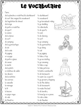 French faire expressions bingo / le verbe faire et ses expressions
