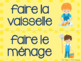 French faire expressions word wall/ Mur de mots le verbe faire