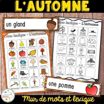 French fall - automne - 39 mots de vocabulaire et lexique