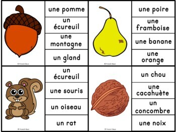 French fall - automne - jeu d'association #1