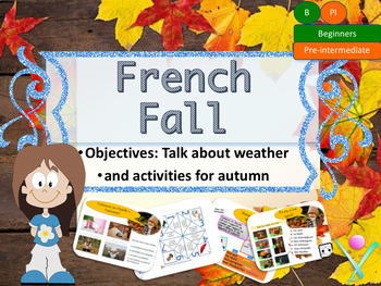 French fall autumn lesson and activities