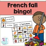 French fall / l'automne - bingo game