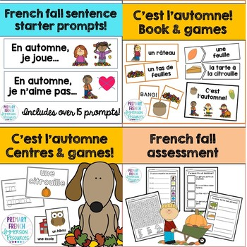 French fall bundle - vocabulary, games, and more!