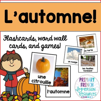 French fall / l'automne - word wall words, flashcards, and