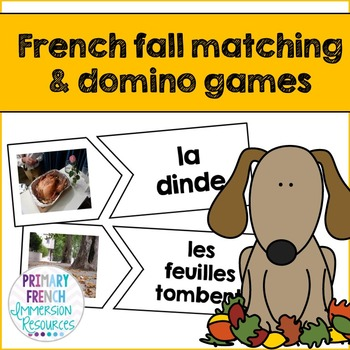 French fall / l'automne - matching and domino games