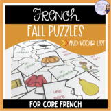 French fall puzzles L'AUTOMNE