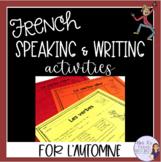 French fall puzzles & writing prompts/puzzles et écritures pour l'automne