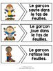 French fall / l'automne - reading puzzle game