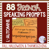 French fall speaking activity AUTOMNE HALLOWEEN L'ACTION DE GRACE