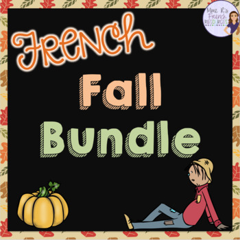 French fall speaking and writing bundle ACTIVITÉS D'AUTOMNE