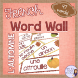 French fall vocabulary word wall MUR DE MOTS L'AUTOMNE