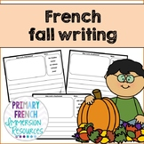 French fall / l'automne - writing