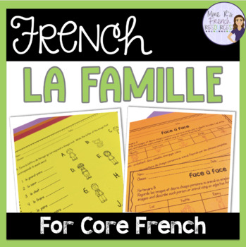 French family speaking and writing ACTIVITÉS POUR LA FAMILLE