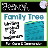 French family tree project using family vocab and possessive adjectives