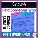 French passé composé speaking activity