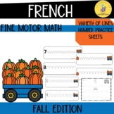 French fine motor activities: fall edition