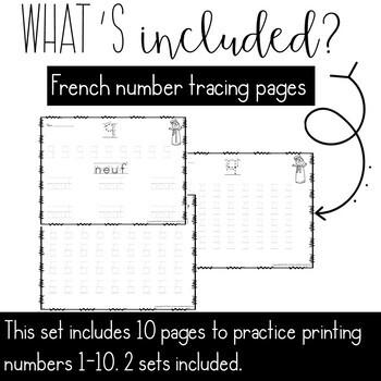 French fine motor math: Winter Edition