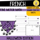French fine motor math activities: halloween edition