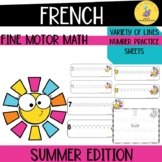 French fine motor math activities: summer edition