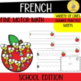 French fine motor number activities back to school edition