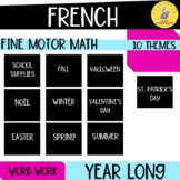 French fine motor number activities : Growing Bundle