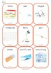 Flash Cards L'école School French English