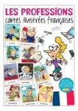 French flash cards LES PROFESSIONS (jobs) - cartes d'images Français