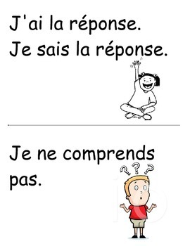 French flash cards common interactions