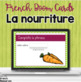 French food and drink task cards - Boom cards