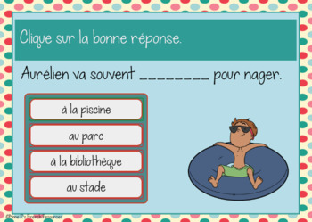 French city and places task cards - Boom cards