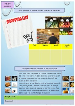 French food and meals booklet for beginners