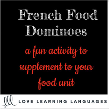 French food dominoes game - 112 common French food items - La nourriture