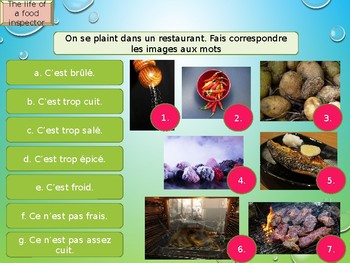 French food grammar and vocabulary PPT for beginners