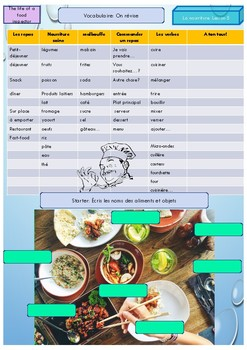 French food grammar and vocabulary booklet for beginners