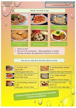 French  food in the world booklet for beginners