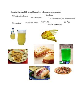 French food - match up
