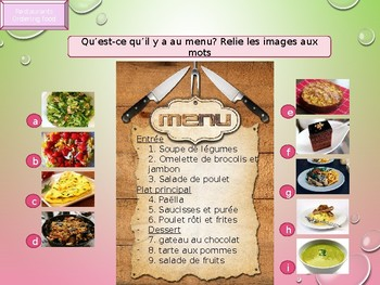 French food order in a restaurant PPT for beginners