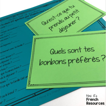 French food speaking activity for beginners - FREE ACTIVITY