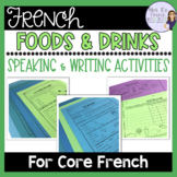 French food speaking and writing ACTIVITÉS POUR LA NOURRITURE