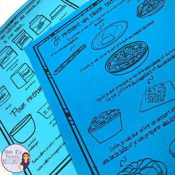 French food speaking and writing set #2 ACTIVITÉS POUR LA NOURRITURE