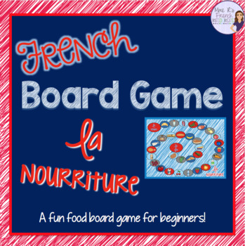 French food vocabulary board game