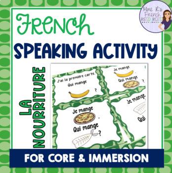 French food vocabulary game J'AI... QUI A ...? NOURRITURE